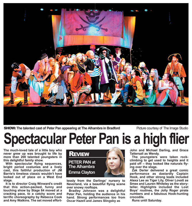 Spectacular Peter Pan is a high flyer