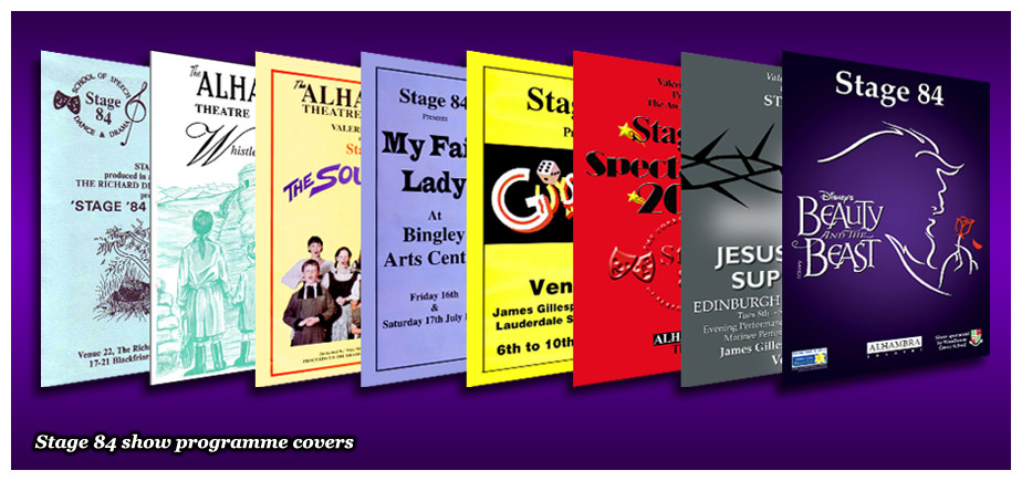 Stage 84 show programme covers
