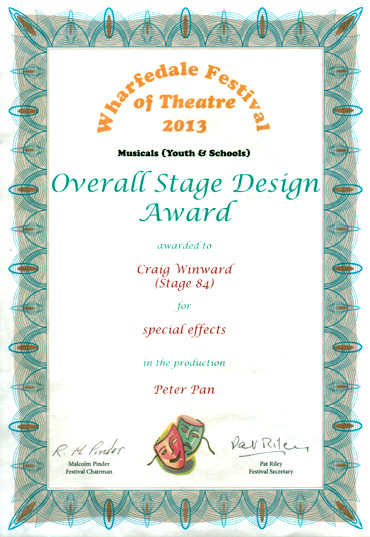 Peter Pan, A Musical Adventure, 2012 - Best Overall Stage Design