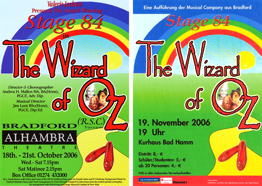 Stage 84 presents The Wizard of Oz, 2006